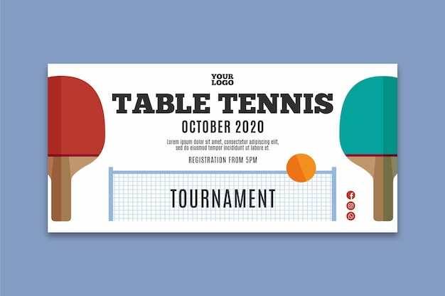 Table tennis banner template