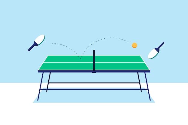 Table tennis concept illustrated