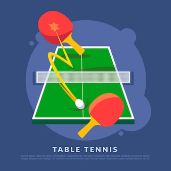 Иллюстрация концепции настольного тенниса