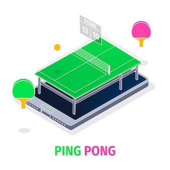 Table tennis concept