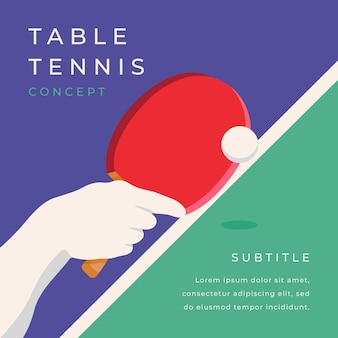 Table tennis concept