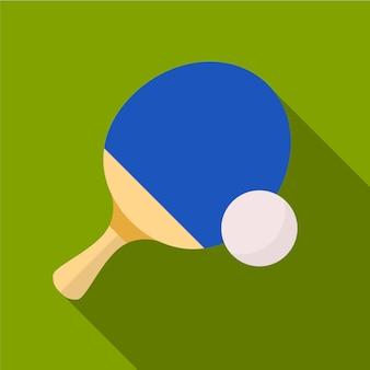 Настольный теннис плоский значок иллюстрации изолированных вектор знак символ