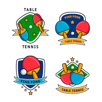 Table tennis logo collection