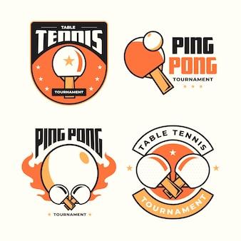 Коллекция логотипов для настольного тенниса
