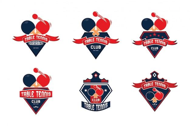 Table tennis logo collection