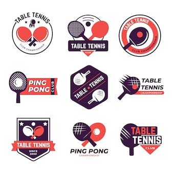 Набор логотипов для настольного тенниса