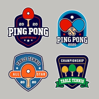 Table tennis logo set