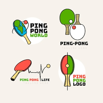 Insieme di marchio di ping pong