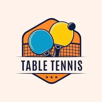 Table tennis logo with details