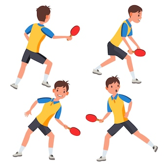 Table tennis male player character set