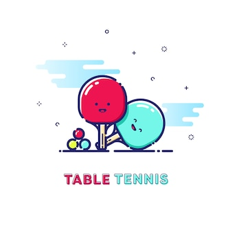 Table tennis sport illustration