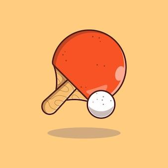 Настольный теннис векторные иллюстрации дизайн