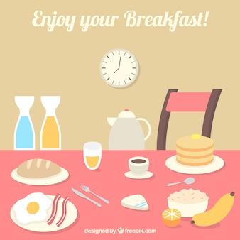美味しい朝食付き表