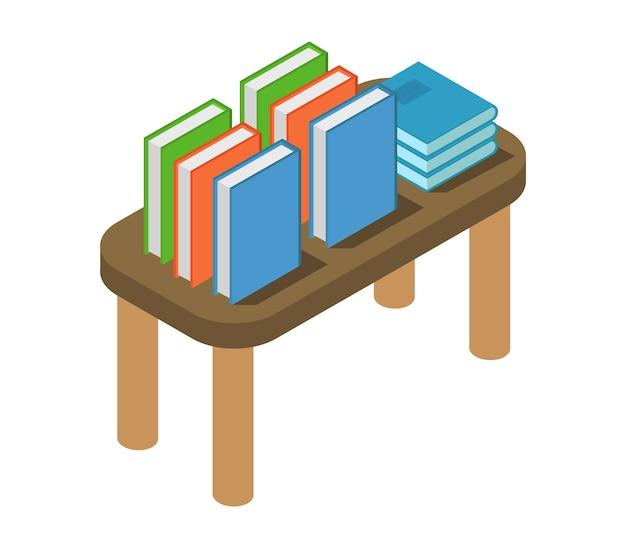 等尺性の本を持つテーブル