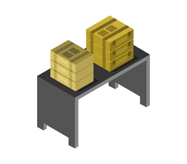 等尺性ボックス付きテーブル