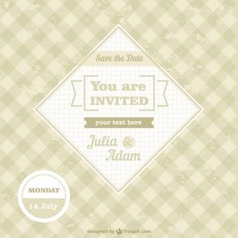 無料のヴィンテージ結婚式の招待状
