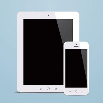 Планшет и дизайн мобильного телефона