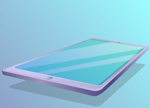 Tablet concept illustration, cartoon style