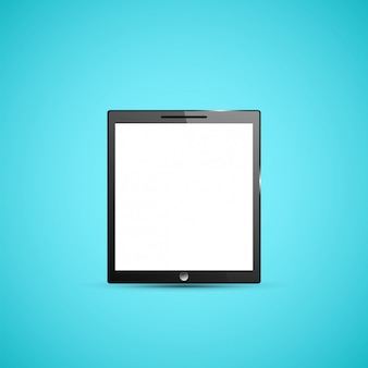 Tablet pc computer illustration.