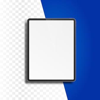 Планшетный компьютер с пустой экран, изолированные на прозрачном фоне.