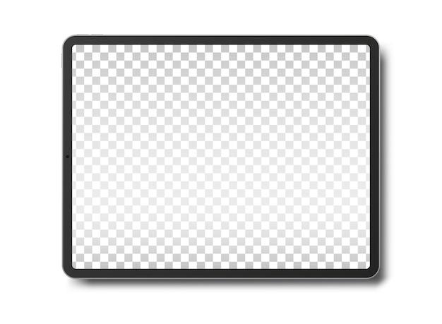 빈 화면을 흰색 배경에 고립 된 태블릿 pc 컴퓨터.
