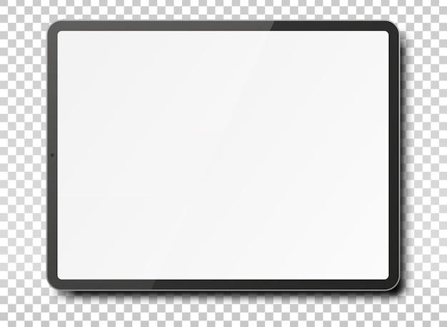 Планшетный компьютер с пустой экран на прозрачном фоне