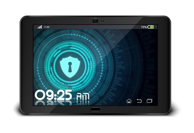 Векторная иллюстрация tablet pc