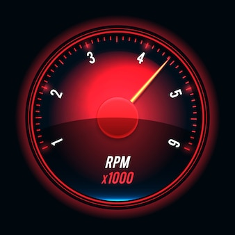 Tachometer. glossy style modern unusual illustration