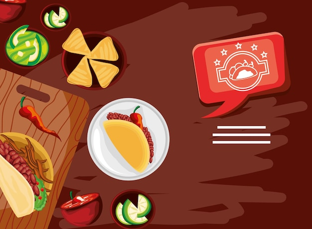 Taco day festive