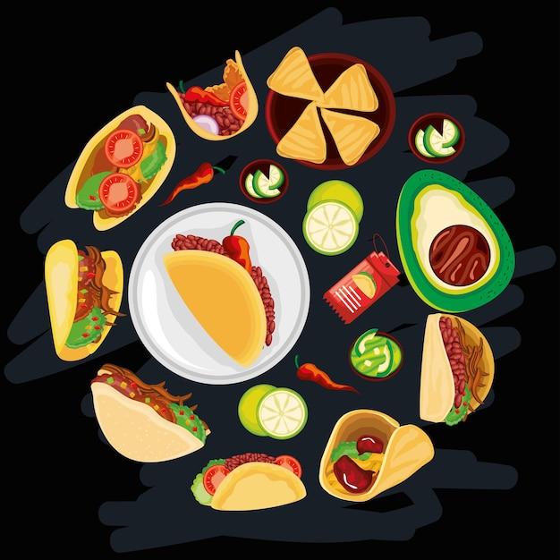 Дневная еда тако