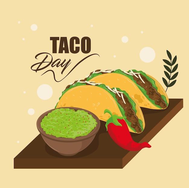 타코 데이 멕시코 음식