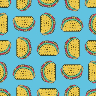 Taco drawing background