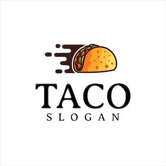 타코 로고 디자인 벡터 패스트 푸드 레스토랑과 카페 기호