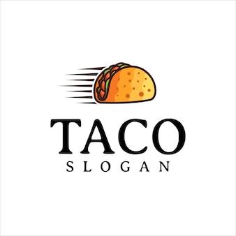 Taco logo design vector fast food restaurant and cafe symbol