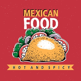 Taco. mexican food. traditional mexican cuisine.