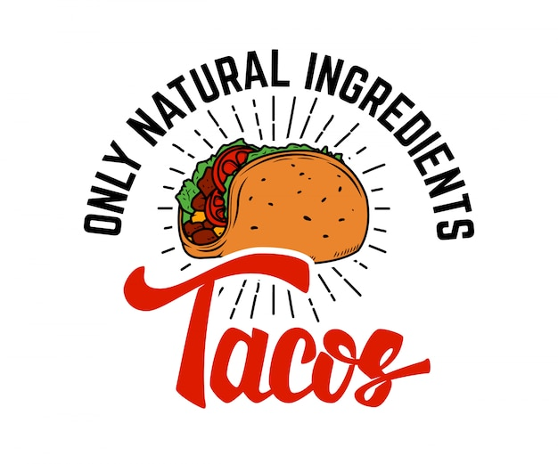 Tacos.  element for logo, label, emblem, sign.  illustration