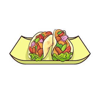 タコスはメキシコの代表的な食べ物です
