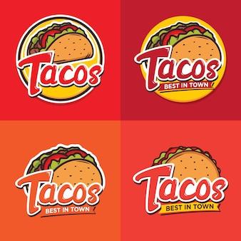 タコスのロゴデザイン