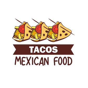 Тако. мексиканская кухня. набор популярных мексиканских блюд. быстрое питание.