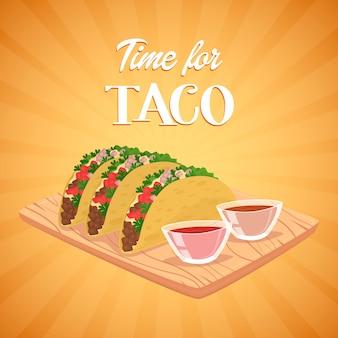 タコス。メキシコ料理。