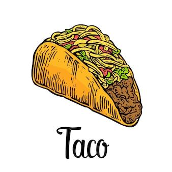 タコス、メキシコの伝統的な料理。