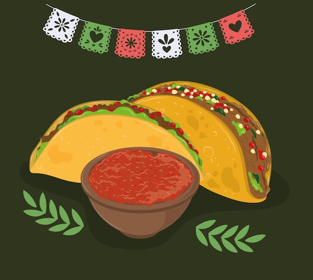 Tacos and sauce
