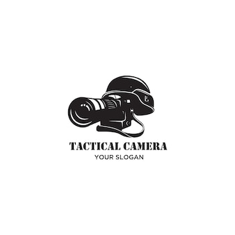 Tactical camera war silhouette logo