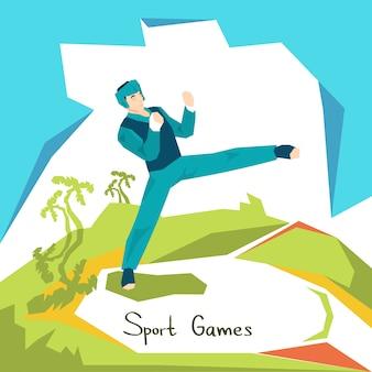 Taekwondo athlete sport competition