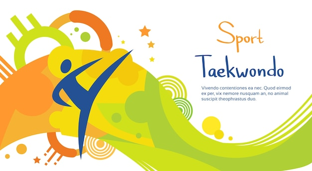 Taekwondo athlete sport game competition