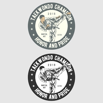 Taekwondo badge logo