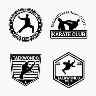 Taekwondo badges