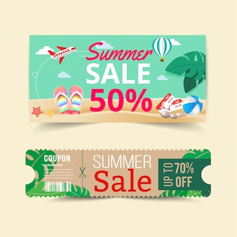 Tag price offer and promotion summer.