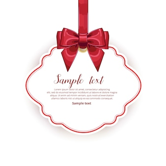 Tag template with ribbon