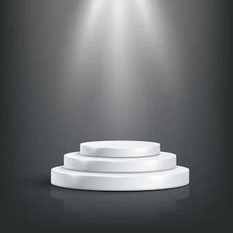 Tage podium with lighting, stage podium scene